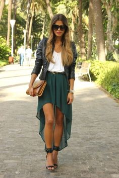 leather+chiffon