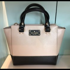 Kate Spade Wellesley Small Camryn WKRU3841 Peb/Blk Kate Spade New York Wellesley Small Camryn WKRU3841 Pebble/Black Leather kate spade Bags Satchels