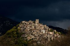 Pereto, a town in the province of L'Aquila in the Abruzzo region of Italy