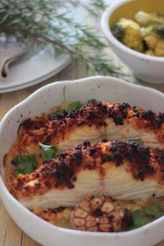 As Minhas Receitas: Bacalhau com Crumble de Broa e Chouriço