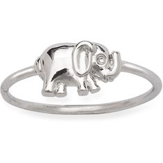 La Preciosa Sterling Silver Elephant Ring (22 AUD) ❤ liked on Polyvore