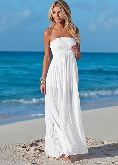 Lace detailed maxi dress in the VENUS Line of Dresses for Women