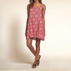 Girls Pattern Swing Dress | Girls Dresses & Rompers | HollisterCo.ca