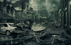 But an apocalypse is something that you could still live through, right? What could life be like after the apocalypse and why do so many preppers need to adjust your thinking Post Apocalyptic City, Apocalypse Art, Apocalypse Aesthetic, Zombie Hunter, Time To Leave, City Background, Matte Painting, End Of The World, Abandoned