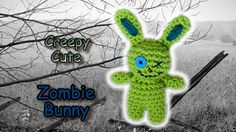 Creepy Cute Zombie Bunny Crochet Pattern by JaydaInStitches