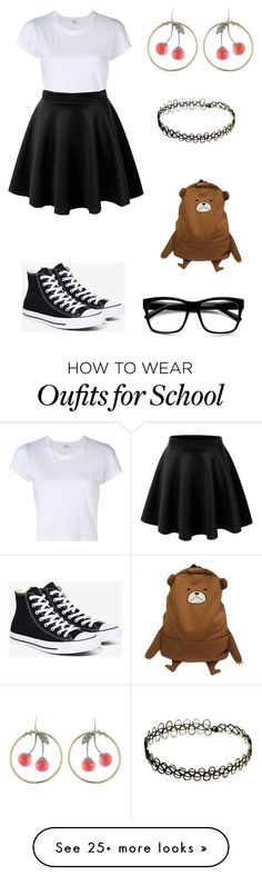 """School set"" by faniedeschanel on Polyvore featuring RE/DONE, Converse, Alexis Bittar and Retrò"