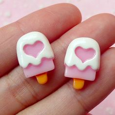 Ice Cream Bar / Popsicle with Heart Cabochon by MiniatureSweet, $0.99