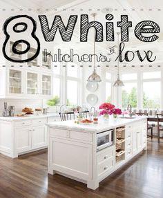 LOVE THIS ALL WHITE KITCHEN