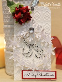 Christmas Gift Tag with Ivett Carrillo created for I Am Roses