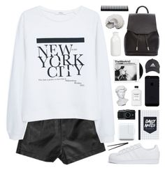"""""""2:05 PM"""" by novalikarida ❤ liked on Polyvore featuring MANGO, adidas Originals, rag & bone, Urban Trends Collection, Crate and Barrel, GHD, Eichholtz, adidas and CB2"""