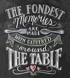 So true. My favorite part of the day is having dinner with my family.