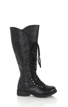 df5db9e47 Deb Shops Tall Flat #Combat #Boot with Lace Up Front $31.43 Big Black Boots
