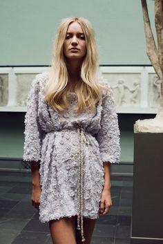 Cecilie Melli, vår 2015 — Pudderprint Fashion History, Fashion Photo, Print Patterns, Norwegian Fashion, Lace Skirt, Dress Up, Feminine, Gowns, Style Inspiration