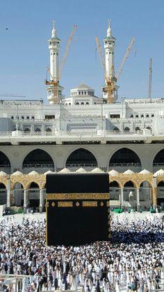 Beautiful Mosques, Beautiful Places, Masjid Haram, Places Around The World, Around The Worlds, Mecca Kaaba, Imam Hussain Wallpapers, Mecca Wallpaper, Mekkah