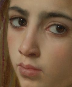 Detail of Girl with a Pomegranate, by William-Adolph Bougereau, 1875
