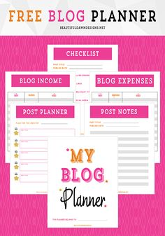 Get Organized With A Free Blog Planner Printable - Beautiful Dawn Designs