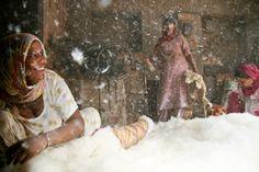 Fabbrica di materassi a Bikaner, Rajasthan. Foto di Luca Vasconi su licenza CC