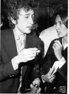 Bob Dylan and Joan Baez.