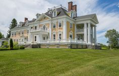 a stately colonial style mansion in burke vermont is on American Mansions, American Houses, Architectural Digest, Old Mansions, Second Empire, House Goals, Historic Homes, Victorian Homes, Belle Photo