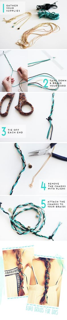 Boho braid hair wrap tutorial