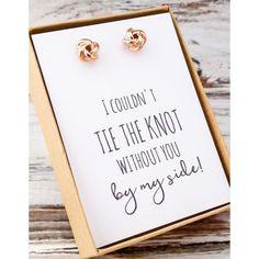 Knot Earrings / Wedding Ideas