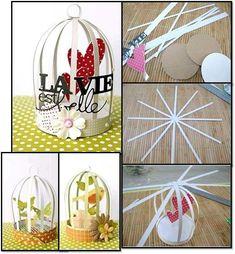 Jaula Fun Diy Crafts, Tree Crafts, Recycled Crafts, Diy Crafts For Kids, Decor Crafts, Toilet Paper Crafts, Diy Paper, Paper Art, Diy Para A Casa