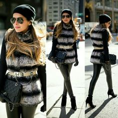 Luxe Rachel Zoe Faux Fur Chinchilla Vest Get the A-list look for a whole lot less! This luxuriously soft faux fur feels as fabulous as it looks! Front pockets keep the vibe casual, just throw it over your favorite T-shirt and jeans to update your look instantly.  Fully lined, six hidden hook-and-eye closures, two front pockets, two interior pockets.  Condition: New without tags. Shell: Face- 100% modacrylic, Backing- 100% polyester. Lining: 100% polyester. Faux fur. Color: Chinchilla…