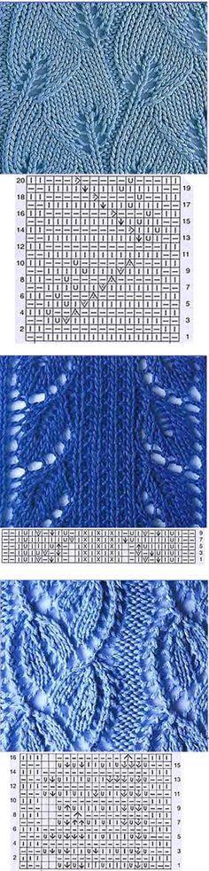 Lace Leaf type Knitting pattern