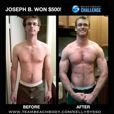 Joseph got BIG & BUFF with P90X, Body Beast, and Shakeology gaining 14 lbs of lean muscle and $500 in the Beachbody Challenge. Want results like this? Join my Challenge Group!