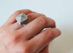 concrete stud ring on etsy