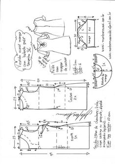 Dress Sewing Patterns, Blouse Patterns, Clothing Patterns, Blouse Designs, Sewing Clothes Women, Make Your Own Clothes, Pattern Drafting, Fashion Sewing, Embroidery Techniques
