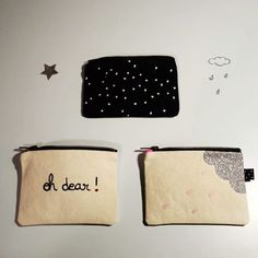 Dimanche pluvieux ☔ #aixenprovence #arlettegrimm #pochette #mini #pouch #collection #handmadewithlove #madeinfrance #sewing #rain #rainy #sunday #oh #dear #glitter #paillettes #pink #stars #cute #todayimwearing #creation #drawing #instamood #widn #check my #etsyshop #etsy @etsy #link on my #bio