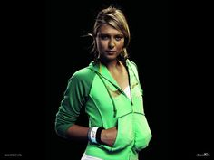 Maria Sharapova in green wallpaper - Wallblast - Wallpapers, Photos, funny pictures