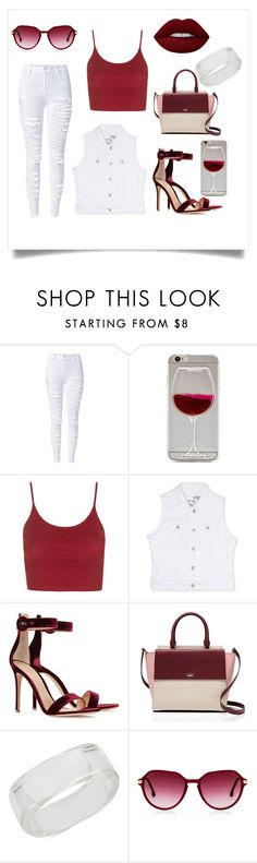 """""""DENIM."""" by valemx ❤ liked on Polyvore featuring WithChic, Topshop, Rhythm in Blues, Gianvito Rossi, Kate Spade, INC International Concepts and Lime Crime"""