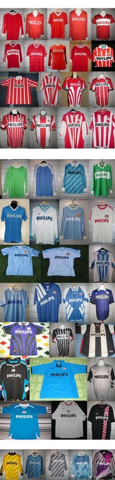 PSV Eindhoven shirts through out the years.