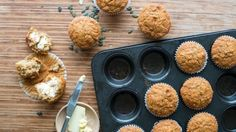 Mighty muffins with a zesty burst of flavour and extra fibre.