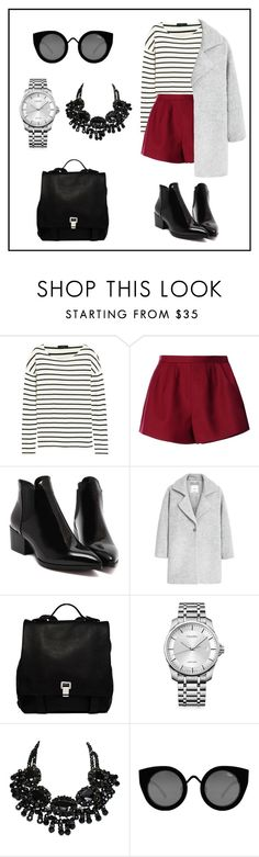 """""""Untitled#86"""" by zzpolli on Polyvore featuring J.Crew, RED Valentino, MANGO, Proenza Schouler, Calvin Klein and Quay"""