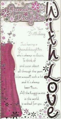 Happy Birthday, Granddaughter!
