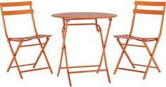 Home Decorators Collection Follie Burnt Orange 3-Piece All-Weather Patio Bistro Set