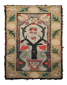 Hooked rug, 1900#Repin By:Pinterest++ for iPad#