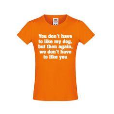 Like my dog t-shirt bij vansSHIRTJEtotSHIRTJE