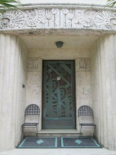iron work and deco entryway