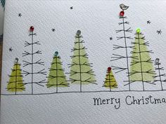 christmas art Christmas tree Weihnachtsbaum The post Weihnachtsbaum appeared first on Jasmine Lambrick. Homemade Christmas Cards, Christmas Tag, Handmade Christmas, Homemade Cards, Christmas Crafts, Painted Christmas Cards, Christmas Tree Painting, Watercolor Christmas Cards, Watercolor Cards