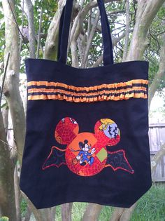 Halloween Mickey Mouse Inspired Black Tote Bag Great by AvaBabyCo, $18.00