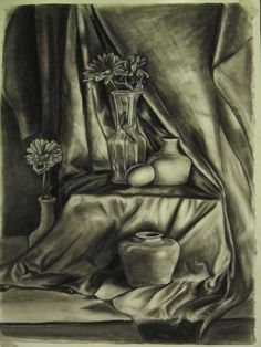 """Life as Still"" by ~Kelleyser on deviantART  Charcoal drawing done for my last drawing class"