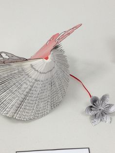 photo(27) by girlie jones, via Flickr Paper Art, Walls, Sculpture, Bird, Wall Art, Papercraft, Birds, Sculptures, Sculpting
