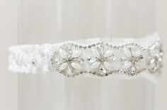 The Cashmere wedding garter, available from www.lagartier.com