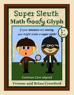 Detective Math Goofy Glyph (1st Grade Common Core) $
