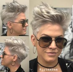 Trendiest Pixie Haircut for Women, 2018 Summer Short Hairstyle Ideas - New Hair Styles Edgy Pixie Hairstyles, Edgy Haircuts, Short Pixie Haircuts, Short Hairstyles For Women, Haircut Short, Faux Hawk Hairstyles, Trending Hairstyles, Hairstyles Haircuts, Rocker Hairstyles