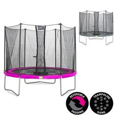 EXIT Twist 10ft Trampoline Pink/Grey | 10ft Trampolines by EXIT